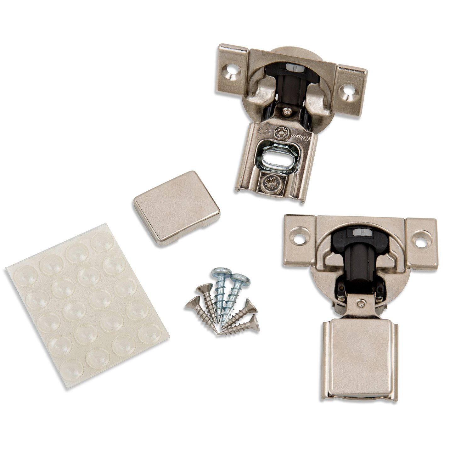 Blum (20 Pack) 1/2'' Overlay Soft Close Hinge 38N355B.08 105° Blumotion with Screws, Cover Caps, ProCabinetBumpers Bumpers
