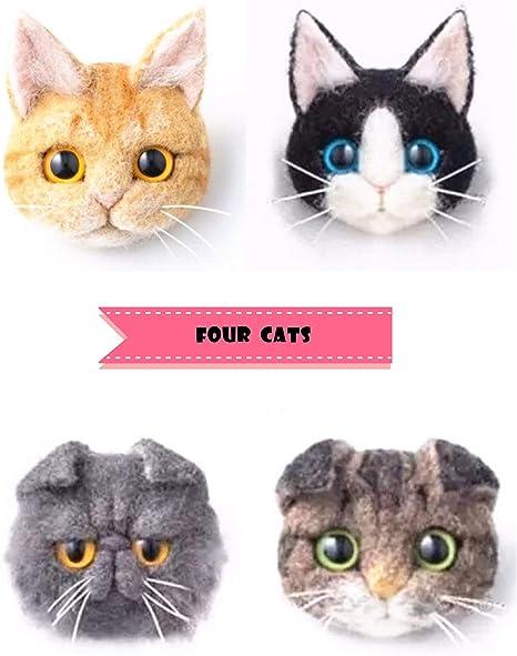 Cat needle felting kit for confident beginners
