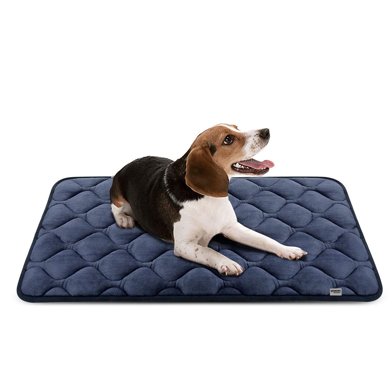 Hero Dog ペットマット 犬 ペットベッド クッション 犬ケージ用敷物 滑り止め 洗える 肌触りよい 4カラー6サイズ(グレー M) product image