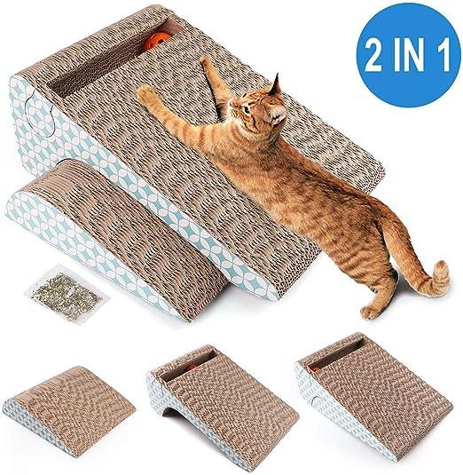 LotFancy Rascador para Gatos con Catnip y Juguete Gato Pelota, 2 ...