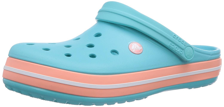 crocs Unisex Erwachsene Crocband Clogs Blau (Pool/Melon) Billig und erschwinglich Im Verkauf