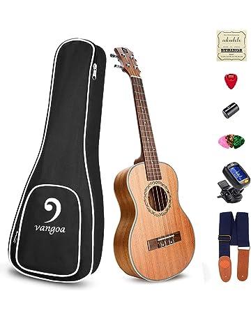 Ukelele Soprano Caoba Acústico 21 Pulgada Hawaiian Ukulele Kit para Principiantes, Adulto,Niños,
