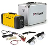 ExpertPower Omega 288+ Portable Generator Lithium-ion 12V 26AH 288WH Uninterruptible Power Supply with 500W PURE SINE WAVE for Outdoor and Indoor Use + Bundle and Jump Start Function (Yellow)