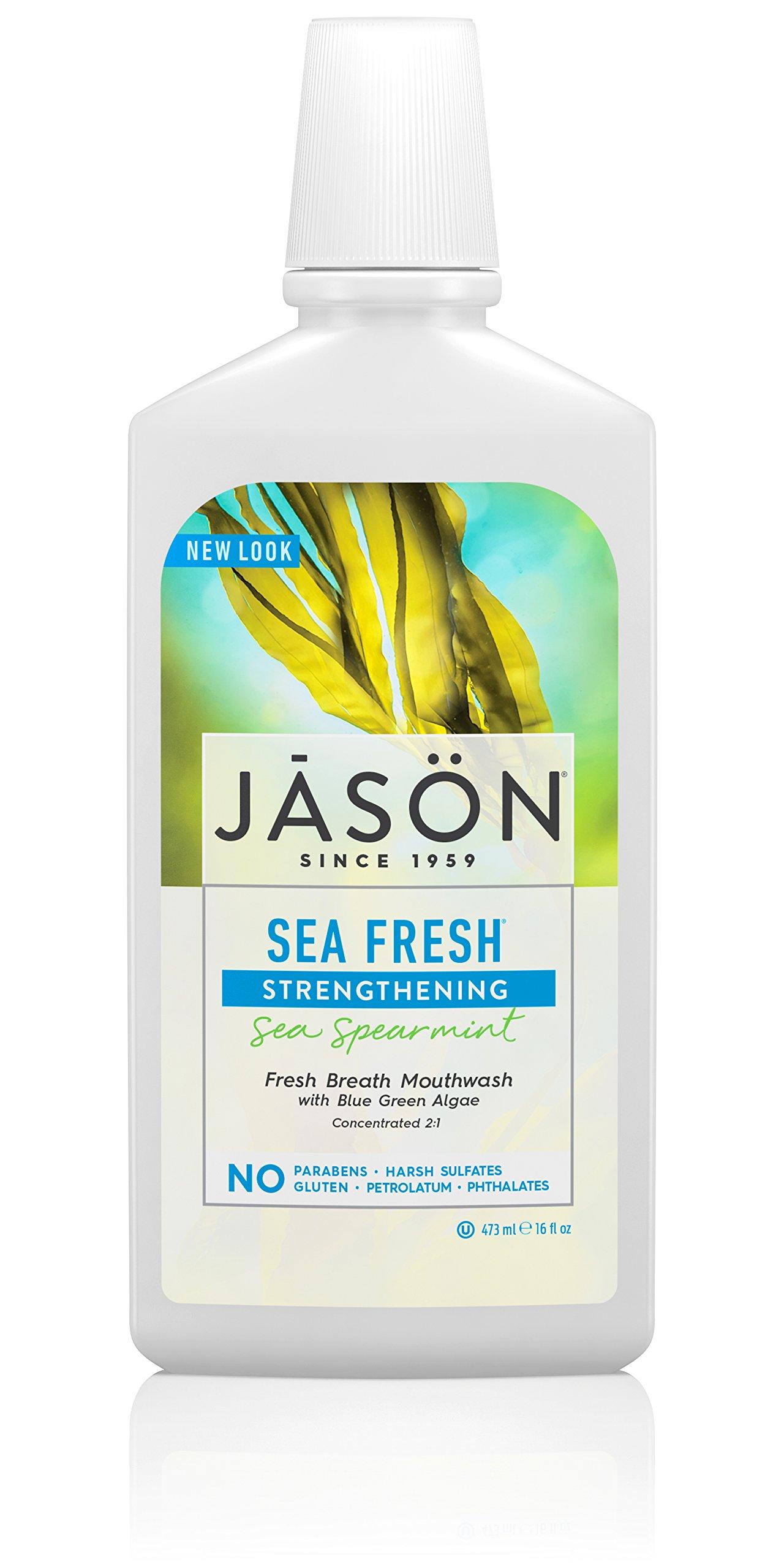 Jason Sea Fresh Mouthwash, Sea Spearmint, 16 Ounce