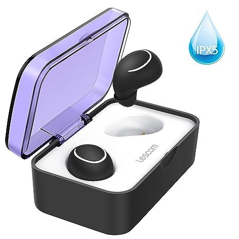 Auriculares Bluetooth - Auriculares Inalámbricos Estéreo In-ear Bluetooth 4.2 Manos Libres con Micrófono Dual con Caja de 6 Horas de Reproducción: ...