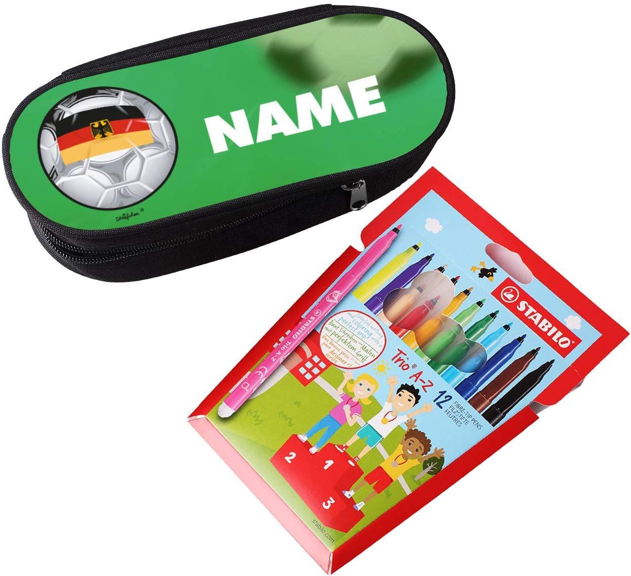 striefchen® Estuche con nombres para futbolista – Diseño: Alemania ...