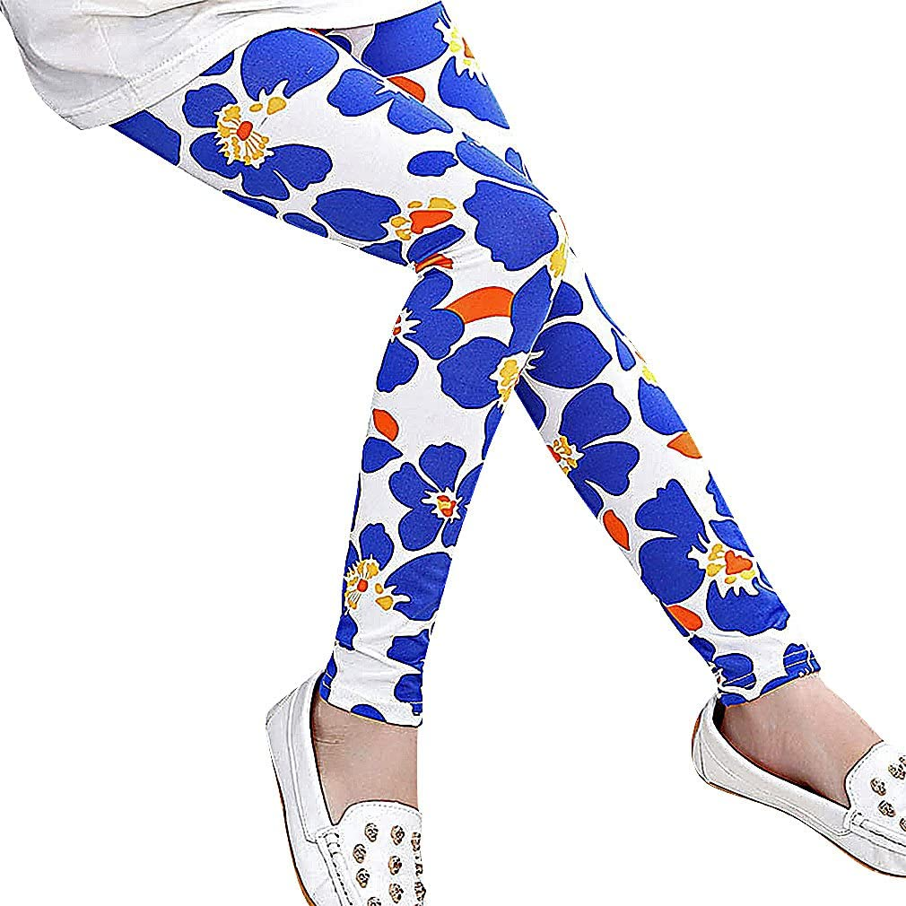 Girls Trendy Eclectic Colorful Prints Long Spandex Polyester Leggings Sweety