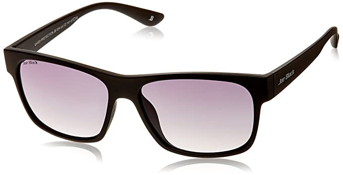 Joe Black Rectangular Sunglasses (Black) (JB-554|C2|57) Sunglasses & Spectacle Frames at amazon