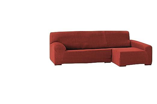 Funda para sofá Teide chaise longue 240 cm. izquierda vista frontal - col. 09-naranja