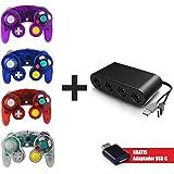 Total Mexico Gadgets ▶ Adaptador Nintendo Switch / WiiU / PC para 4 Controles Nintendo Gamecube