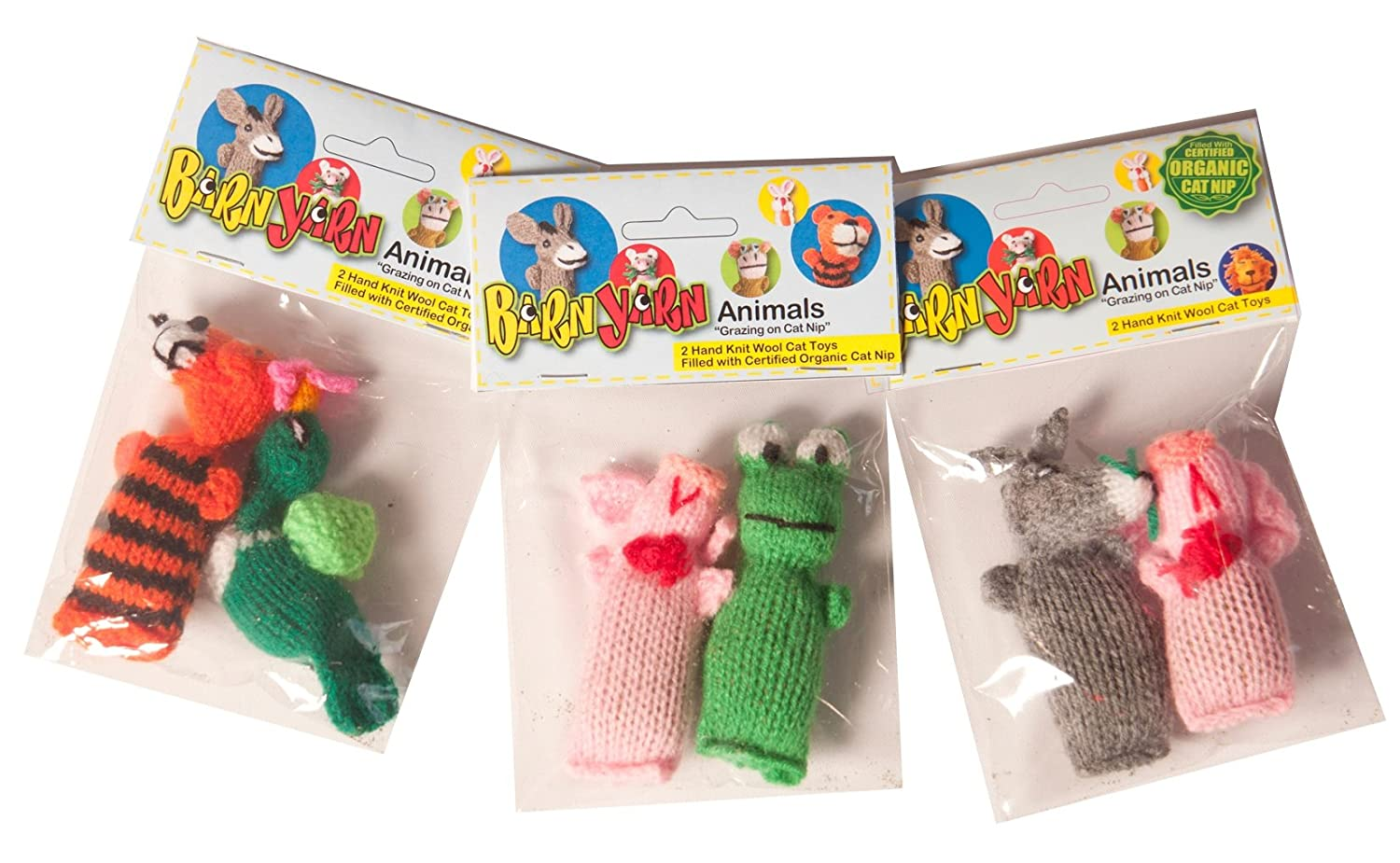 Chilly Dog 1002 Barn Yarn Animal Catnip Toy 2 Pack
