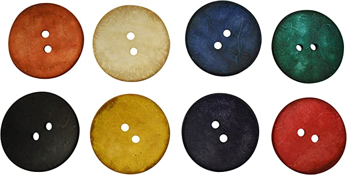 colorful MIX 30 mm wooden buttons buttons 15 5x2 10