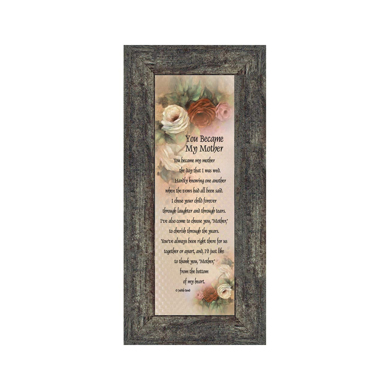 You Became My Mother, Gifts for Mother in Law, In Law Frames, 6x12 7754BW