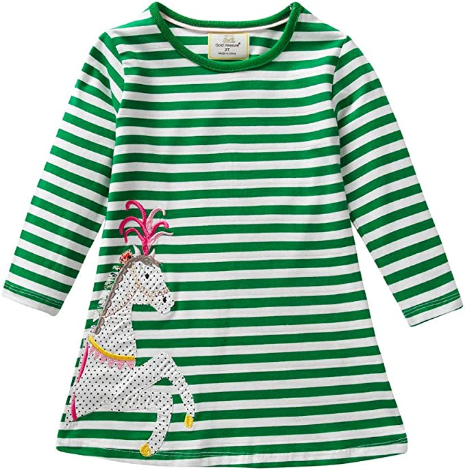 Amazon.com: Vestido de manga larga con estampado de caballo ...