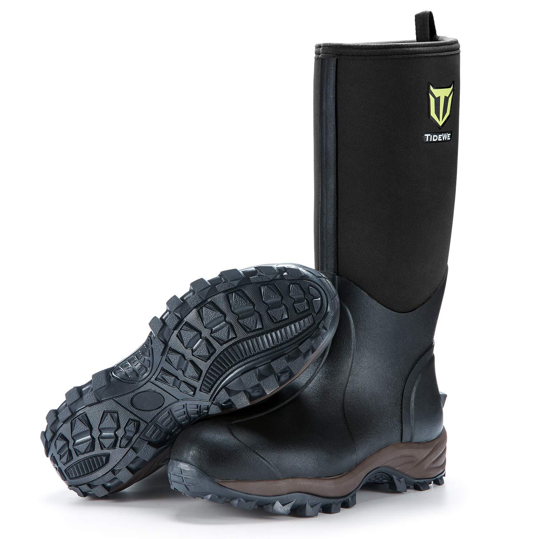 TideWe Muck Boots Men and Women, Waterproof Durable 6mm Neoprene Boot, Rain Boot Hunting Boot Arctic Outdoor Boot(Ger‖)