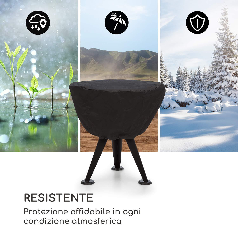 Copertura Antipioggia Materiale: Nylon 600D Nero Lavabile Adatto Caruso 2-in-1 Braciere e Grill Protezione da Intemperie Antistrappo blumfeldt Caruso Impermeabile