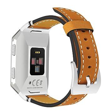 Correa de reloj para Fitbit Ionic, AnGolf Fitbit Ionic, correa de piel esmerilada,