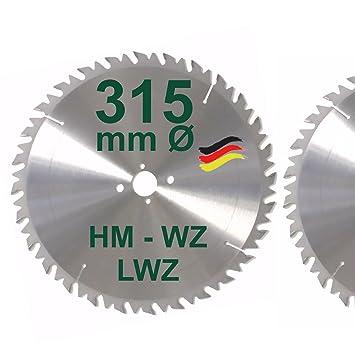 Sehr HM Sägeblatt 315 x 30 mm LWZ Hartmetall Wechselzahn Präzision BZ66