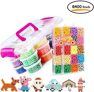 Leegoal Aquabeads/Abalorios Cuentas de Agua 8400 Perlas 30 Colors/Hama Beads/para Niños Niños DIY Artesanía Juguetes Educativos DIY: Amazon.es: Juguetes y juegos