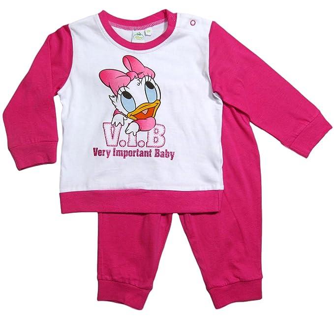 Minnie Mouse - Pijamas Enteros - para bebé niña Fucsia 80 cm-86 cm;