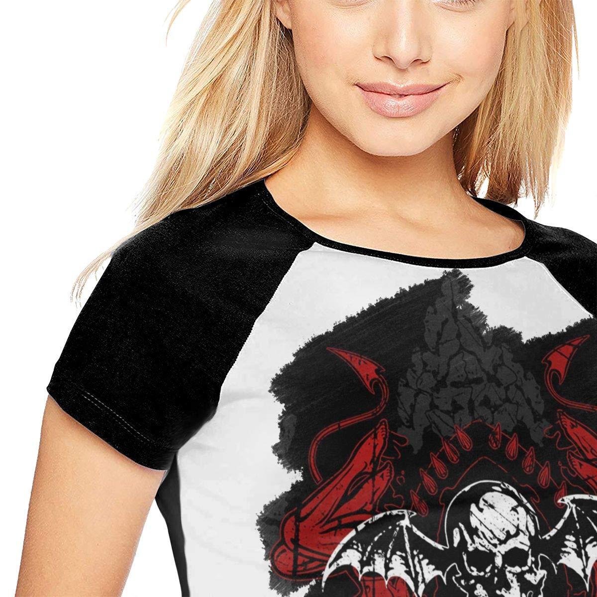 KkdsKkds Avenged Sevenfold Womans Baseball Raglan Top Tennis T-Shirt Gift