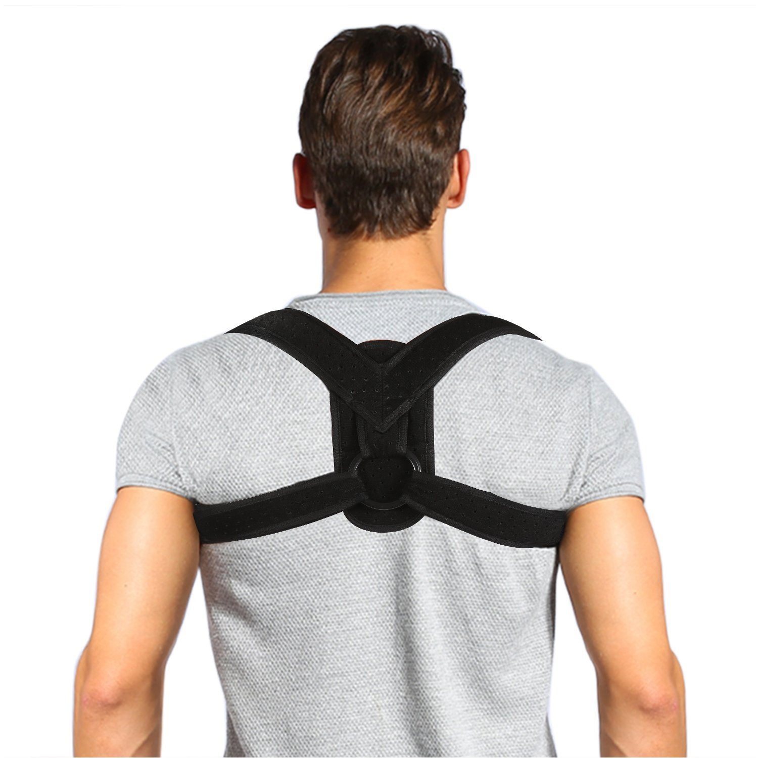 Posture Corrector Brace and Clavicle Support Straightener for Upper Back Shoulder Forward Head Neck Aid, Improve and Fix Poor Posture for Women Men (L(35''-48'' Chest)) by Yosoo Health Gear