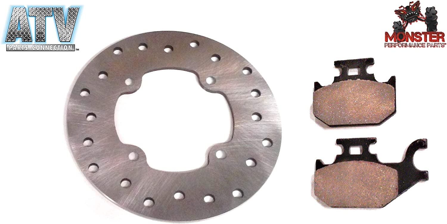705600349 705600604 ATVPC Rear Brake Rotor /& Pads for Can-Am Outlander /& Renegade fits 705600271
