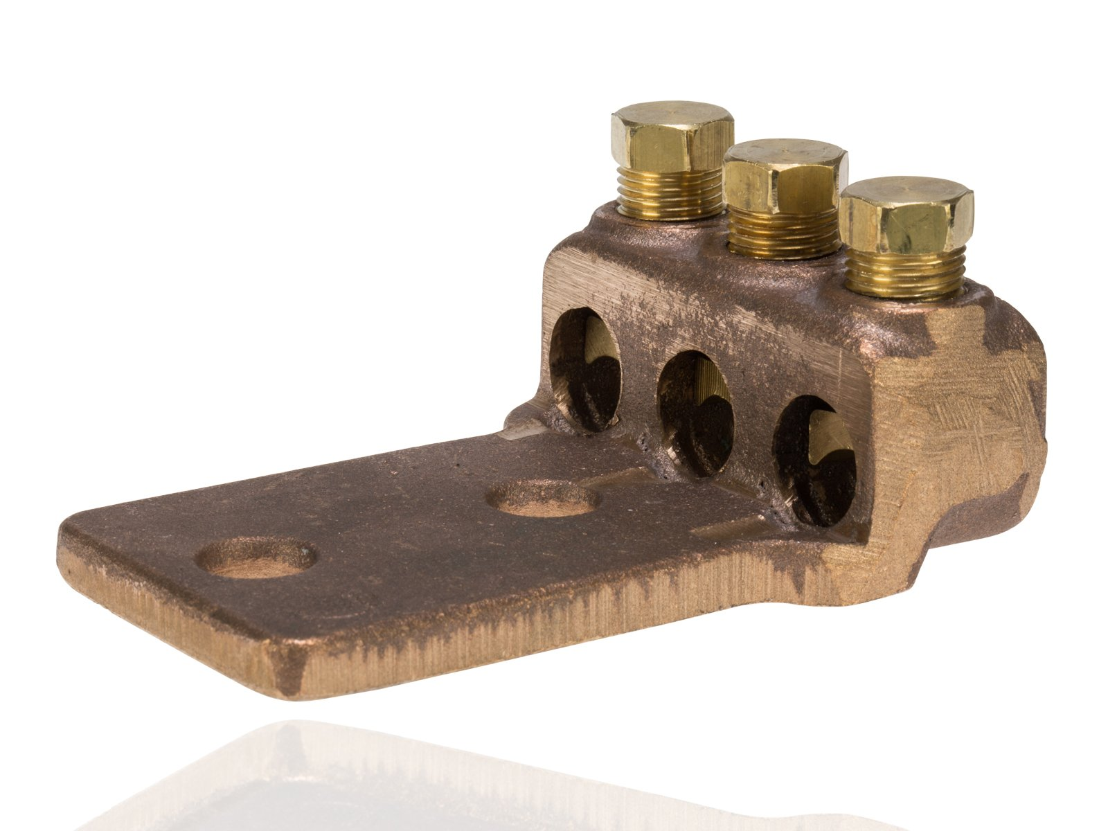 Split Bolt, Post and Tap Connector, Type TL Copper and Cast Bronze Terminal Lug, 4/0 str - 300 MCM Wire Range, 1/2'' Bolt Hole Size, 2 Holes, 750 Amp Nec, 3'' Width, 1.25'' Height, 4.375'' Length by NSI