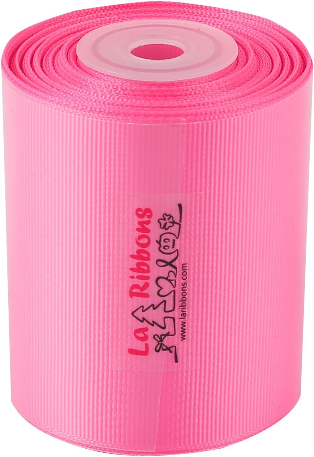 156 Hot Pink Laribbons 3 Inch Wide Solid Color Grosgrain Ribbon 10 Yard//Spool