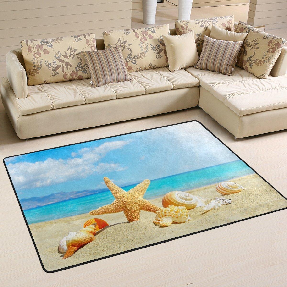 Amazon.com: Bright Summer Holiday Sandy Beach with Starfish ...
