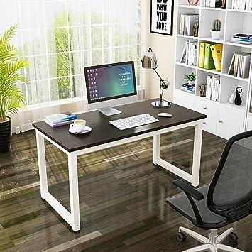 Mesa de Ordenador, Resistente Oficina Escritorio Estudio Escritorio, Moderno Simple Estilo Estación de Trabajo PC Mesa para Oficina en Casa (120x60x74cm, ...