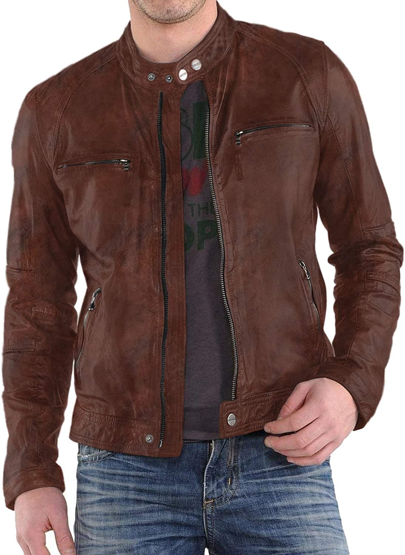 Black, Racer Jacket Laverapelle Mens Genuine Lambskin Leather Jacket 1501220