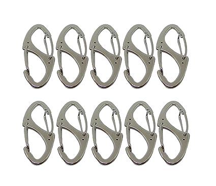 Faocean 10 Piezas Pequeño Metal Mosquetón Clips Doble ...