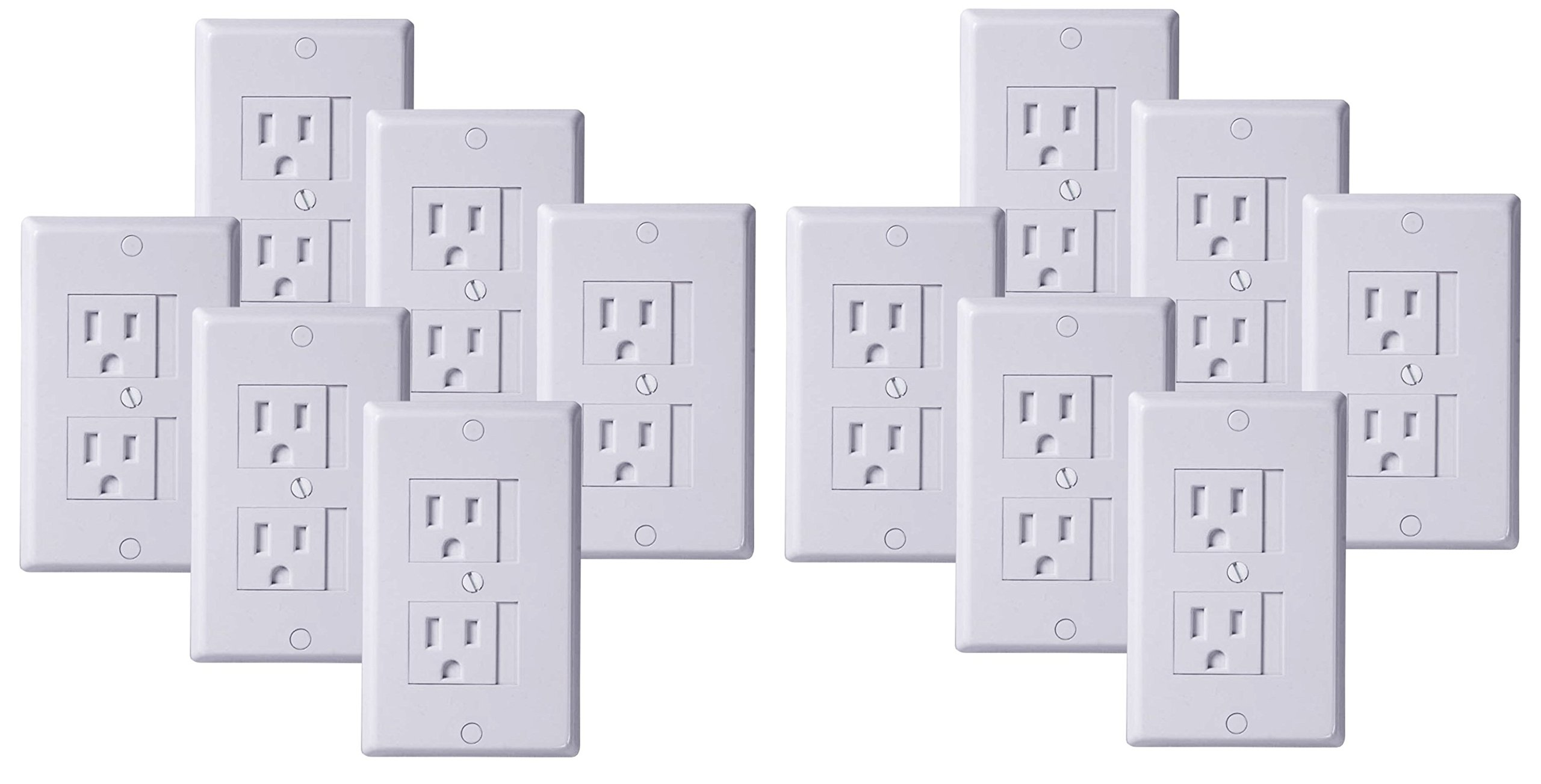KidCo Universal Outlet Cover 12 Count - White by KidCo (Image #1)