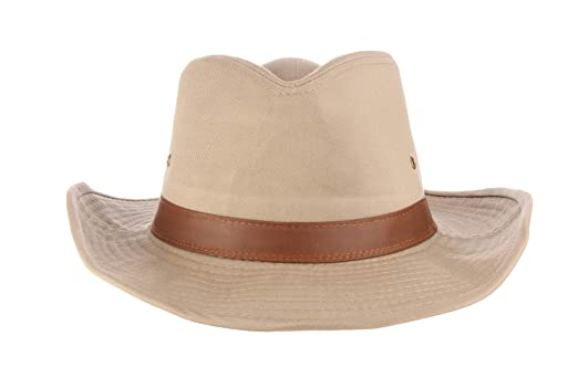 0888c7a8bff Dorfman Pacific Men s Twill Outback Hat at Amazon Men s Clothing store