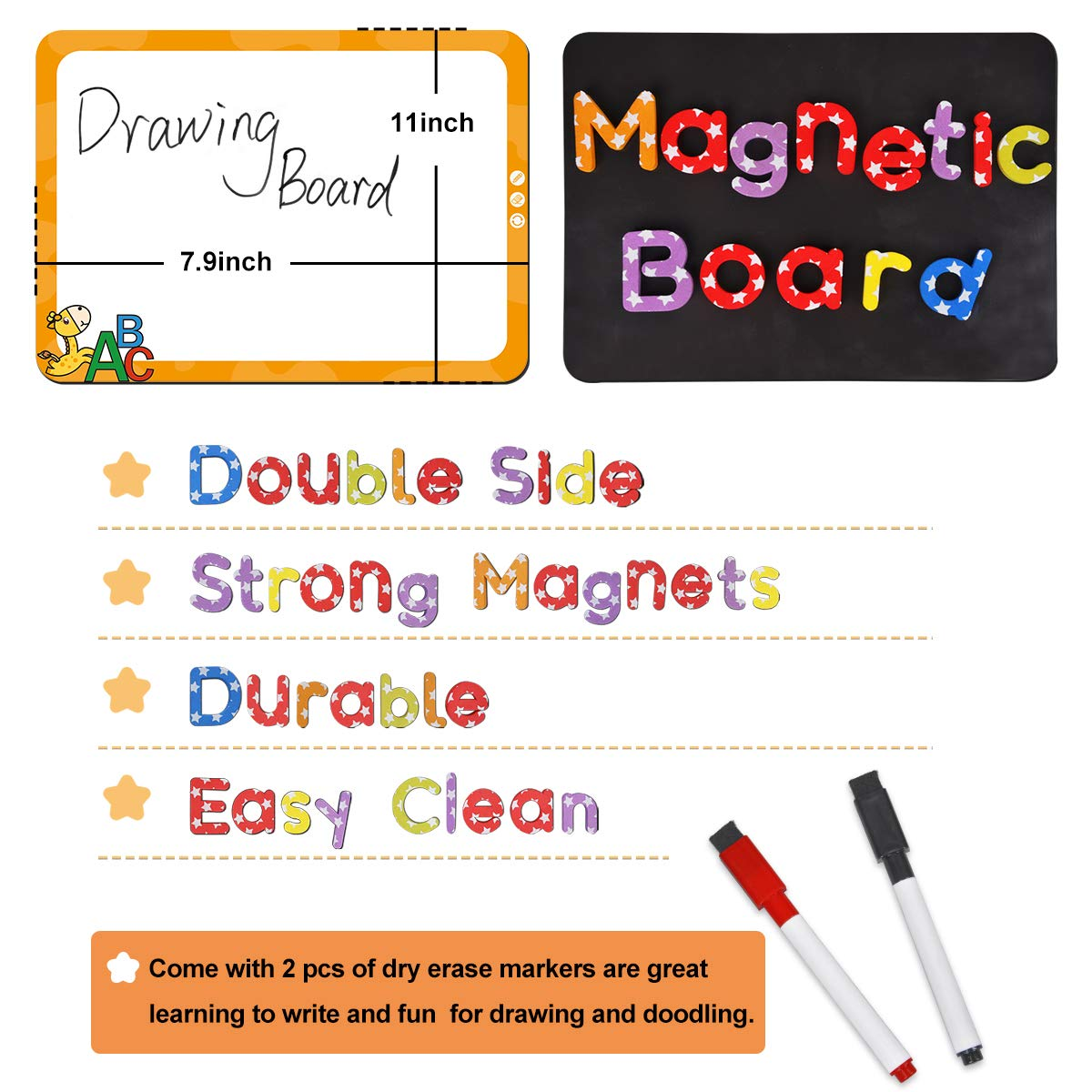Magnetic Alphabet Letters and Numbers for Toddlers Counting 138 ...