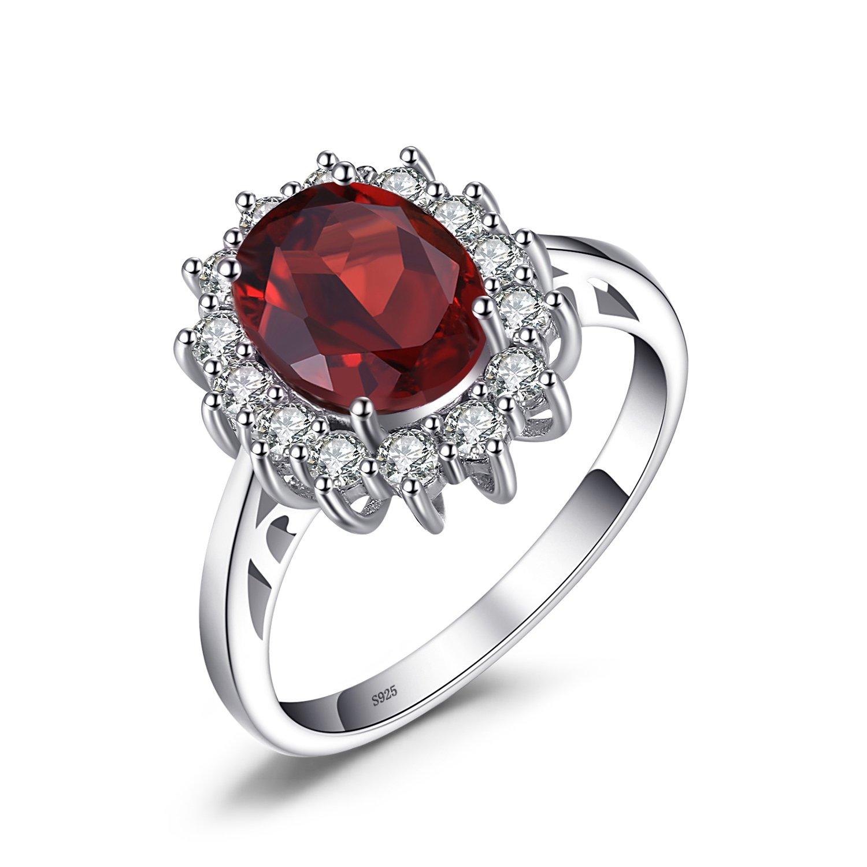 JewelryPalace Principessa Diana William Kate Middleton Diverso Birthstone Halo Anello Fidanzamento Argento Sterling 925 EU-08105CR