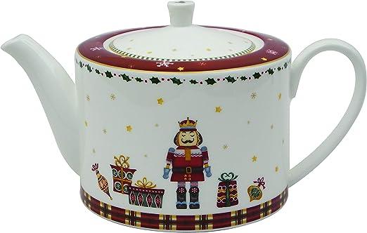 Amazon.com: Prouna - Tetera de porcelana chapada en oro de ...
