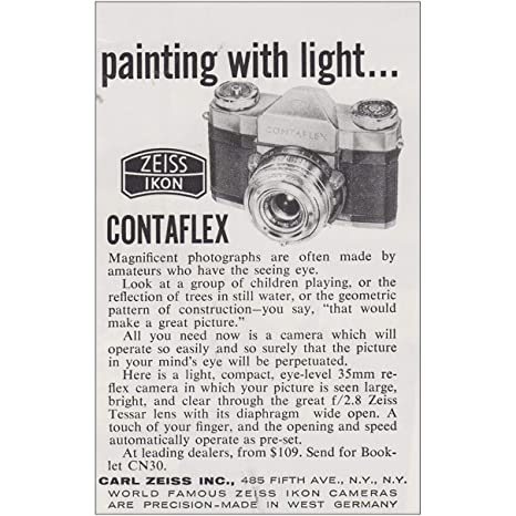 Amazon com: RelicPaper 1958 Zeiss Ikon Contaflex Camera