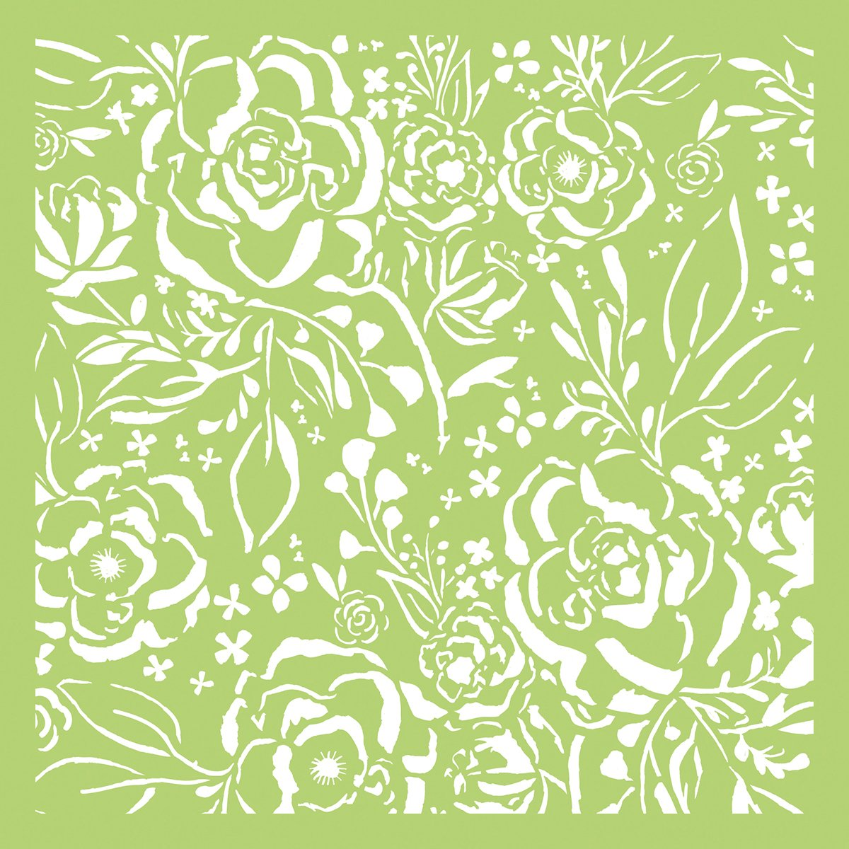 Kaisercraft IT435 Designer Template 6X6-Botanical