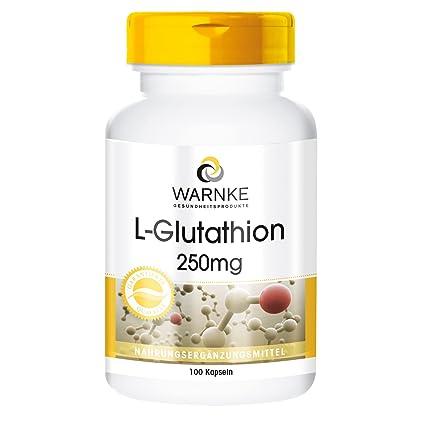 L-Glutatión - 100 cápsulas - sustancia pura: Amazon.es: Salud y ...