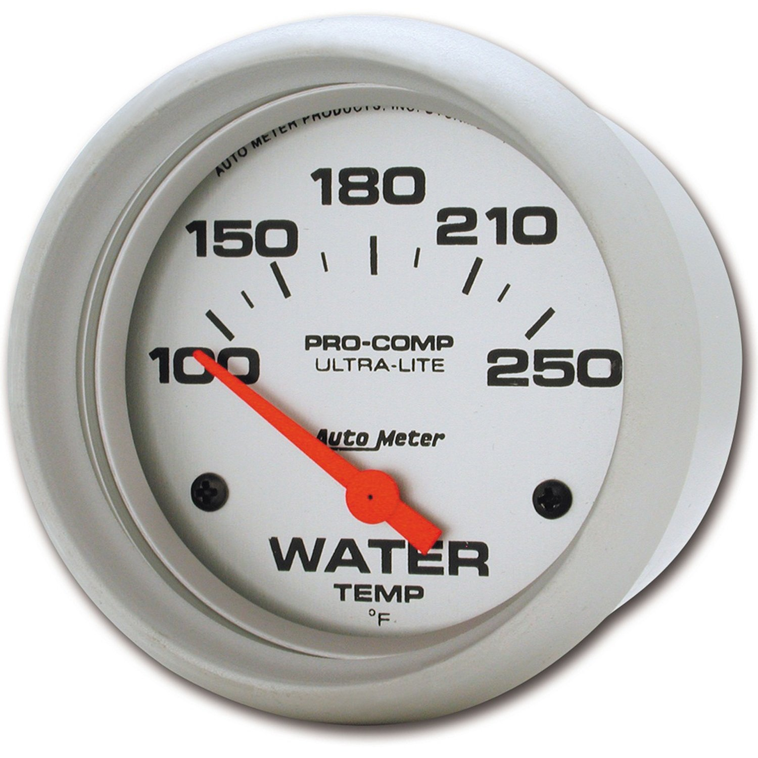 Auto Meter 4437 Ultra-Lite 2-5/8' 100-250 F Short Sweep Electric Water Temperature Gauge