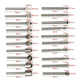 Tonsiki 20pcs Tungsten Carbide Rotary Burr Set with 1/8 Shank for DIY Woodworking, Carving, Engraving, Drilling