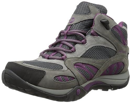 Merrell Women's Azura Mid Waterproof Hiking Boot,Castle Rock/Purple,8.5 W US