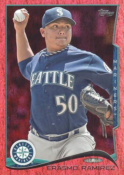 2014 Topps Baseball Red Foil #128 Erasmo Ramirez Seattle Mariners at