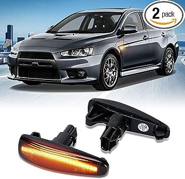 For Mitsubishi Lancer Evolution X Mirage LED Side Marker Light Sequential Lamp