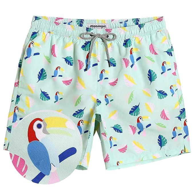 Amazon.com: MaaMgic Bañador corto para hombre y niño, traje ...