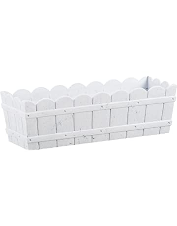 Emsa Country Window Box - Jardinera resistente a los rayos UV, resistente a heladas,
