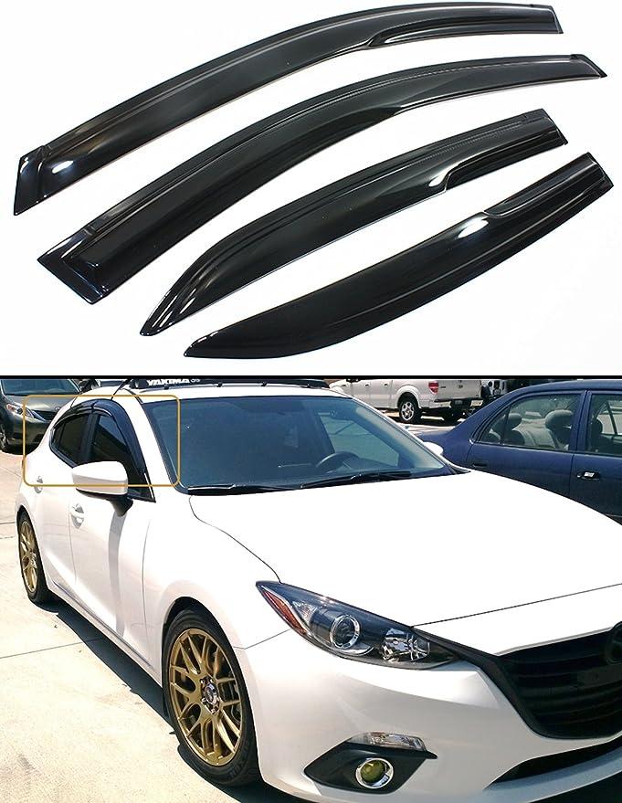 Auto Ventshade 194262 In-Channel Ventvisor Side Window Deflector 4-Piece Set for 2014-2018 Mazda 3