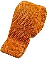 ニットタイ 【ao-LABEL】 ブランド 12色から選べるオシャレな織柄のニット細ネクタイ 【金箔ロゴ化粧箱入り】